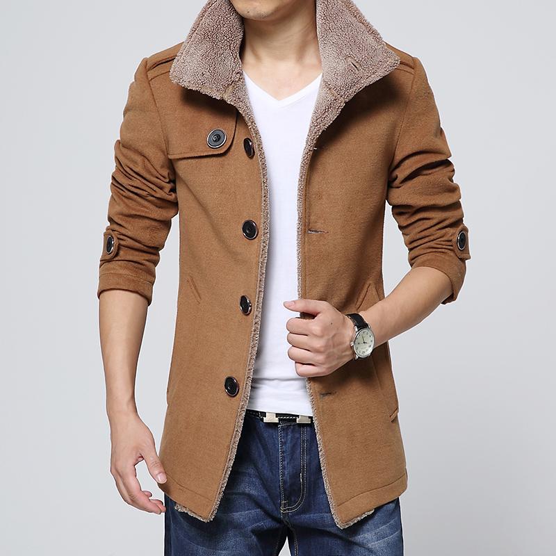 JVR 2015 зимний сезон новые корейские траншеи пальто slim всплеск в молодости мужчин пальто шерстяное пальто