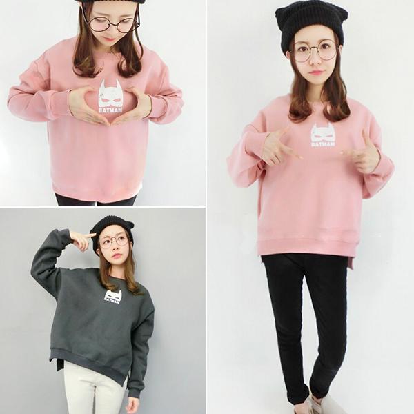 Корейский осенью 2015 и женщины стекаются толстый свитер Новый мультфильм печати женщин рубашки свободные свитера базовый дизайн