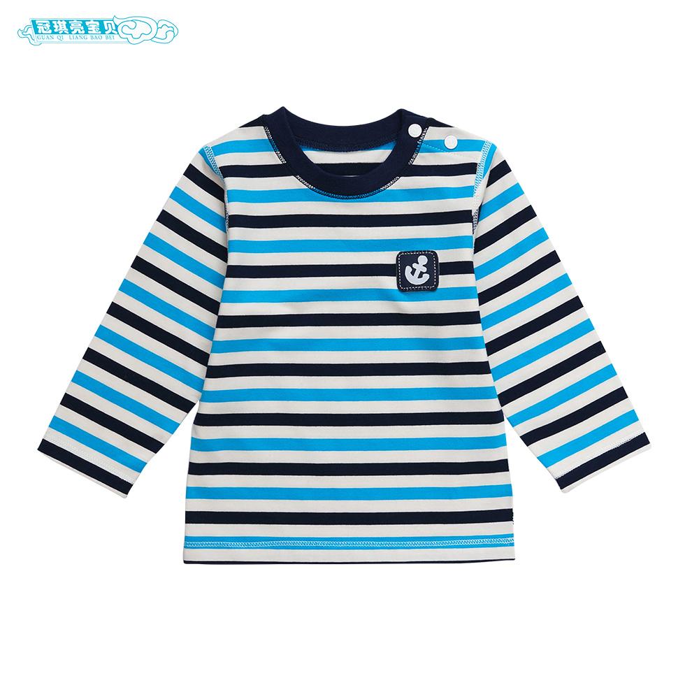 兒童寶寶嬰幼兒條紋打底衫