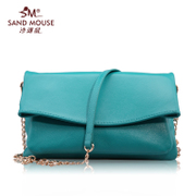 2015 new stylish Beach rats top layer casual leather small bag leather ladies chain diagonal shoulder bag