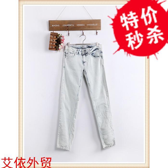 5-6-3 внешней торговли оригинального бренда стирки носить белые джинсы брюки повседневные карандаш брюки ноги брюки 0,4