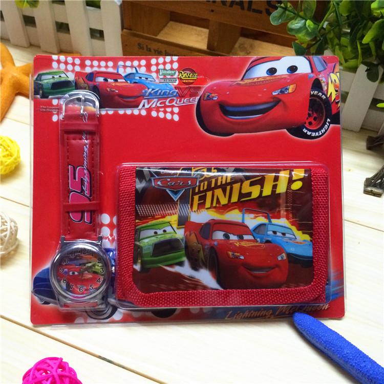 День Диснея детей кварцевые часы + кошелек подарочный набор подарочные наборы канцелярских принадлежностей