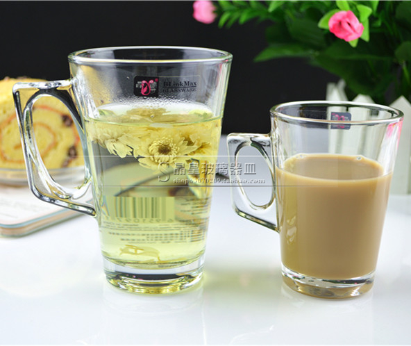 Special glass mug with a small water cup tea cup coffee cup milk cup juice drink cup bar
