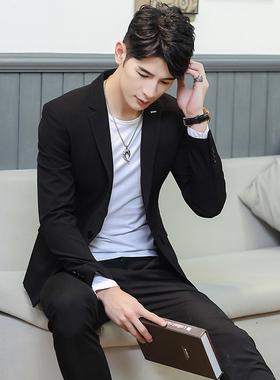 韩版修身男士小西装纯色西服休闲男装外套单西潮308-105-P128