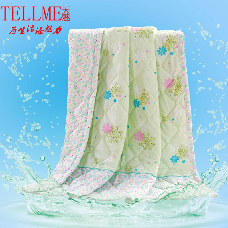 天魅家紡羽絲絨潤膚夏涼被水洗空調被單人薄被1.5米