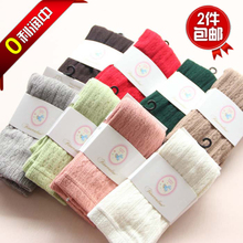 Fall 2015 new girls pantyhose knitting children pantyhose children's wear pure color render their conjoined cotton socks