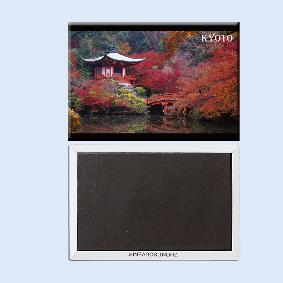 Asia Japan Tokyo red maple leaf and Red Pavilion magnetic refrigerator with travel souvenir 22879