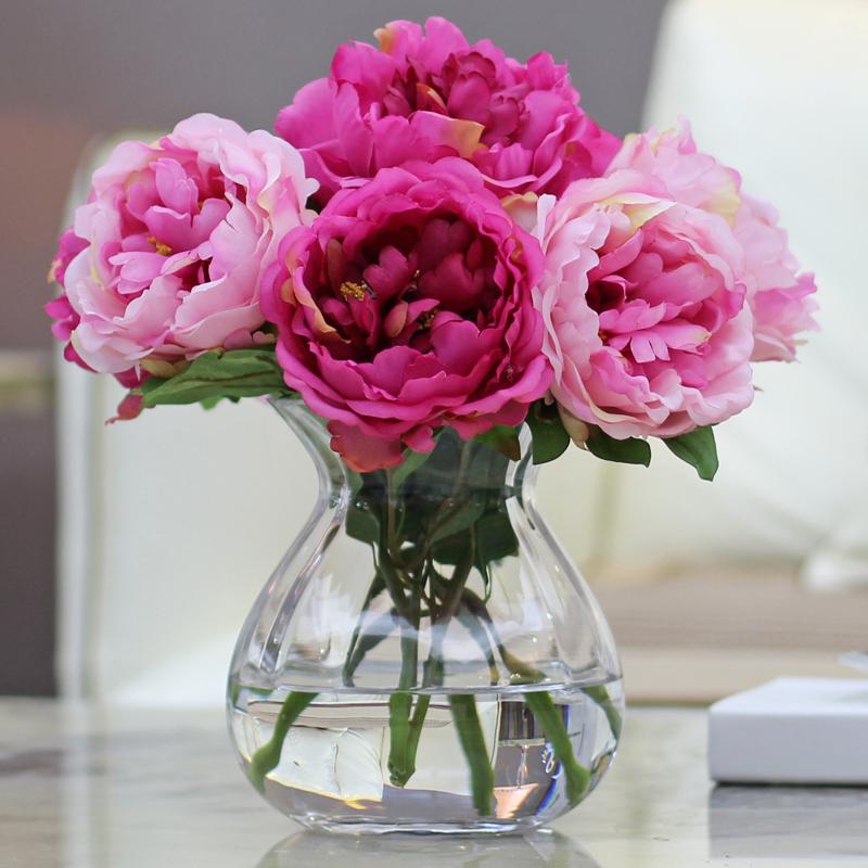 牡丹花仿真花假花擺件幹花花束餐桌茶幾臥室室內客廳擺設家裝飾品