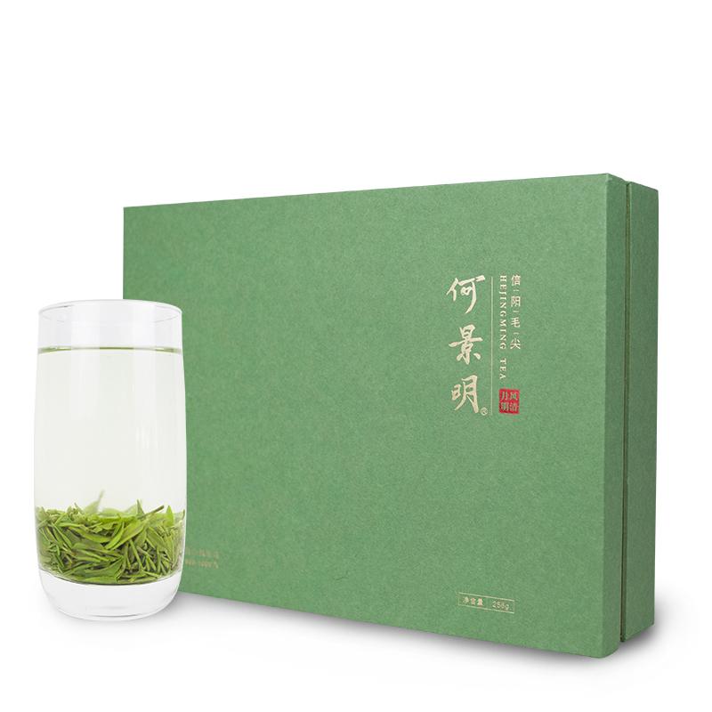 2018年新茶何景明信阳毛尖绿茶高山茶风清月明系列礼品装256克