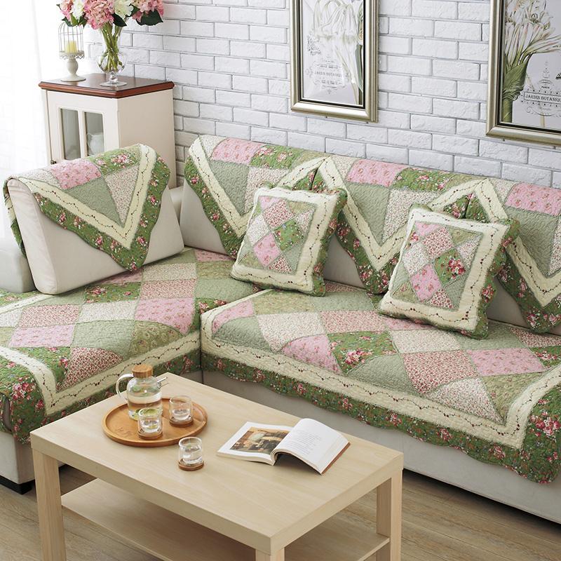 沙發墊布藝棉田園 防滑沙發墊子 四季歐式沙發巾沙發套罩