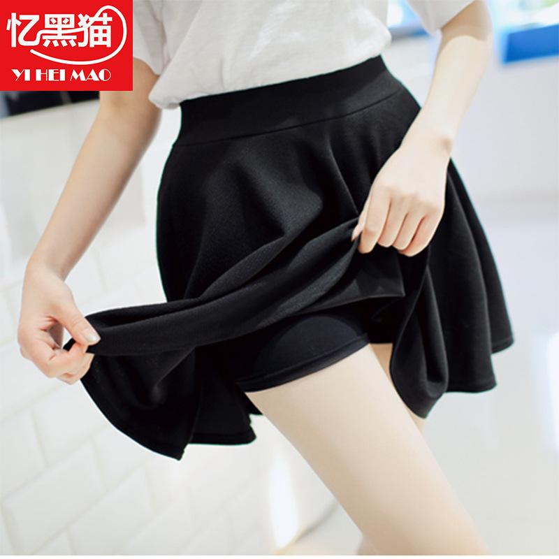 2017 spring and summer new womens dress large skirt anti light ladys sun versatile skirt half length pleated skirt Z9
