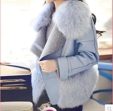 2014 Корея Зимние покупки новых Cui Xiuying строчки кожа меха с Фокс меховые пальто меховые пальто женщин