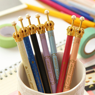 Babe rabbit hearts cute crown ball pen ballpoint pen automatic pencil kawaii Korea stationery