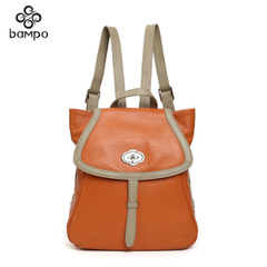Bampo/the Banpo jewelry counters authentic suede cowhide leather leisure travel backpack Joker fashion shoulder bag
