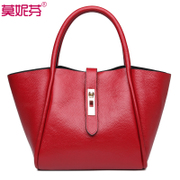Header layer of leather leather handbag baodan shoulder 2015 new capacity casual ladies and make baozi for the parent package