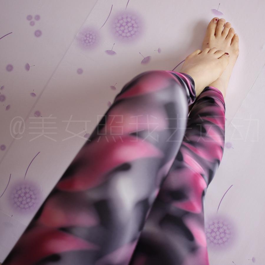 Красота как я пошел в спортивные йога и Быстросохнущий штаны растянуть бедра девять печатных брюки облегающие брюки фитнес
