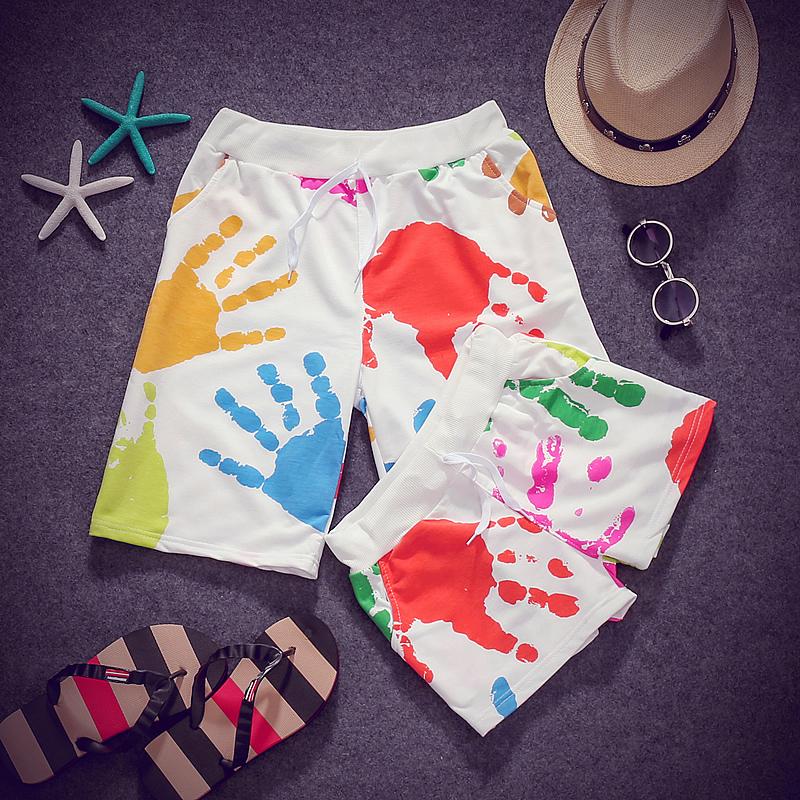 Летние пары Мужские шорты пляж Брюки мужские спортивные шорты летом случайные женщин плюс размер брюки корейской версии