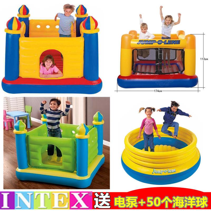 INTEX газированный замок ребенок перейти батут игра дом игрушка морской мяч бассейн домой комнатный небольшой непослушный форт