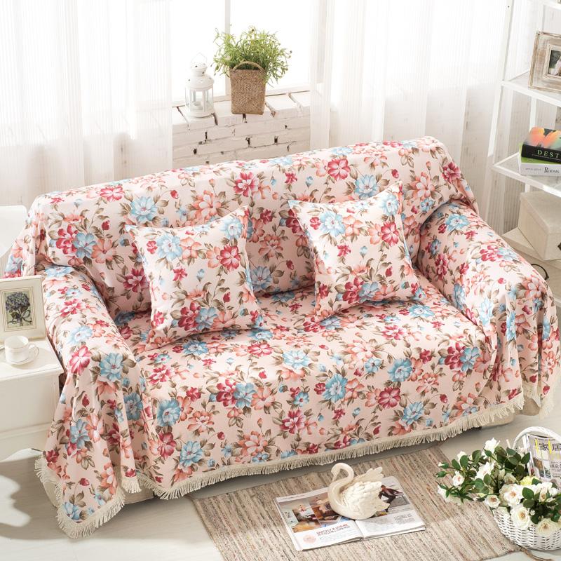 沙發套沙發罩全蓋田園布藝單人雙人沙發墊沙發巾蓋布簡約