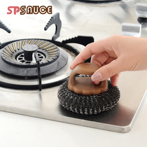 Handle Brush kitchen clean wire ball handle wash pot brush clean brush wire ball brush does not hurt hand