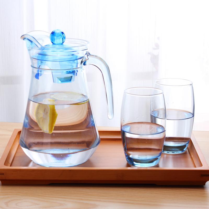 弓箭樂美雅耐熱玻璃水壺冷水壺大容量涼水壺果汁壺耐熱耐高溫防爆