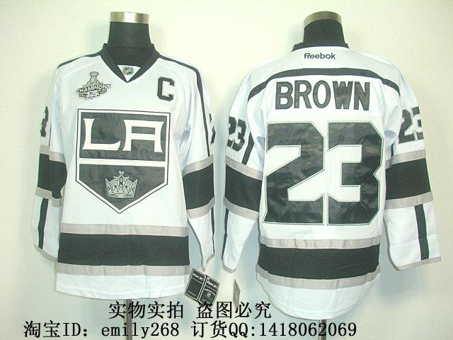 Хоккей НХЛ Лос-Анджелес Кингз #23 Браун Джерси белый королей одежда