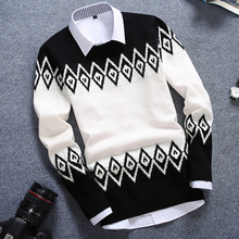 2015 autumn outfit new men round collar pullovers han edition men's cultivate one's morality adolescent boys needle line unlined upper garment