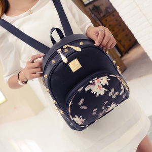 2016 new Korean female fashion rivet shoulder bag mini backpack leisure travel bag female college wind double back