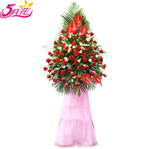 Guangzhou city flower opening flower basket business housewarming celebration Flower Basket Zhongshan Zhuhai Foshan delivery