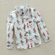 Spring the new children's clothing 2015 boys han edition long sleeve shirt The spring and autumn period and the shirt baby cartoon coat children