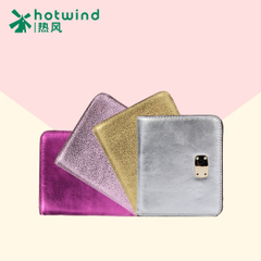 Hot new lady simple solid color suede leather short wallet card package coin purse 5111H5501