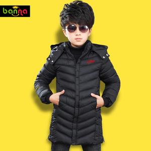 童装男童加厚棉衣新款中大童儿童棉袄休闲外套中长款冬装棉服