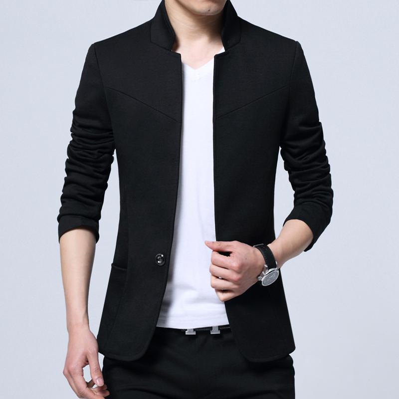 Осень мужской небольшой костюм пальто случайный костюм мужчина облегающий, южнокорейская версия воротник чжуншань наряд молодежь мужской куртка волна