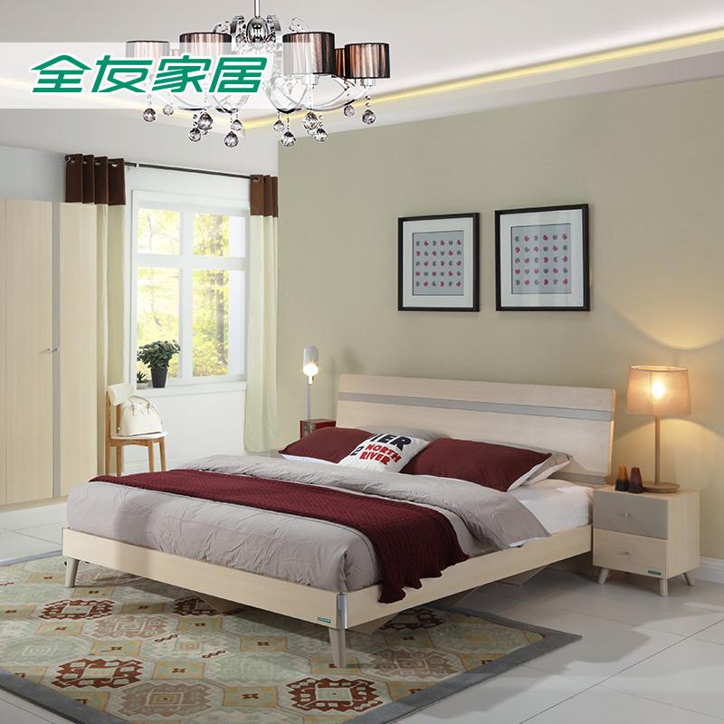 Собирать все друг домой частное кровать двуспальная кровать современный нордический спальня мебель новый кровать совет кровати 1.8 метр 106305