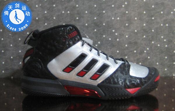 美��公司� adidas streetball 08 全黑�@球鞋 054309
