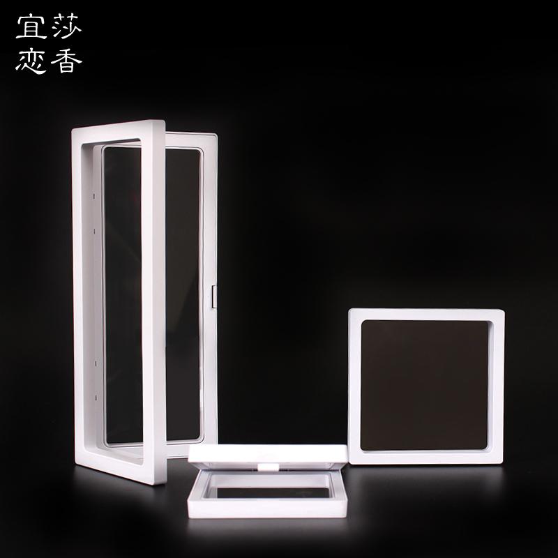 PE薄膜悬浮展示盒 首饰架手镯文玩包装 佛珠手串亚克力透明盒批发
