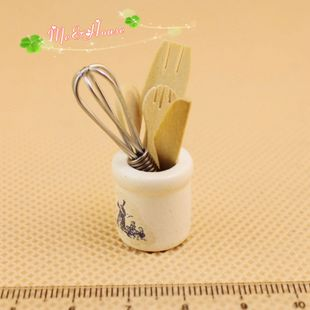 1 12 Dollhouse DOLLHOUSE mini simulation toys wooden cutlery set 62047