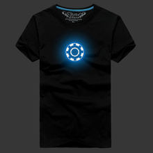 Special offer a clearance blue luminous reflective half sleeve fluorescent short-sleeved summer wear t-shirts with short sleeves male half sleeve