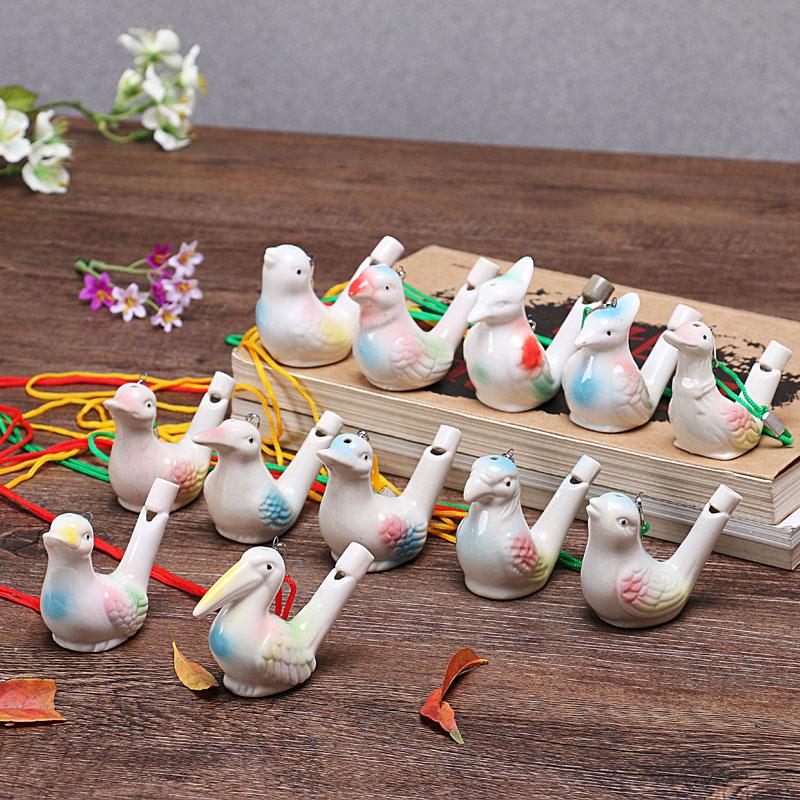 陶瓷带绳水鸟口哨十二生肖哨子儿童玩具夜市景区地摊热卖特价促销