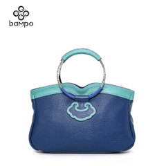 Bampo/the Banpo Banpo decorated counter genuine new female header layer of leather bags women handbag