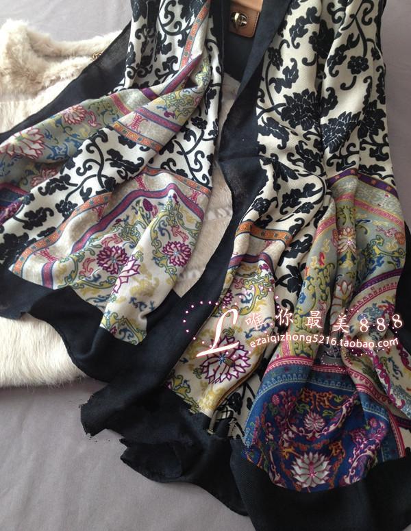 Пакет mail Европа и новые Лагуна jiangboximiya Национальный Ветер хлопок лен шарф Шарфы ВС шаль двойной женщины