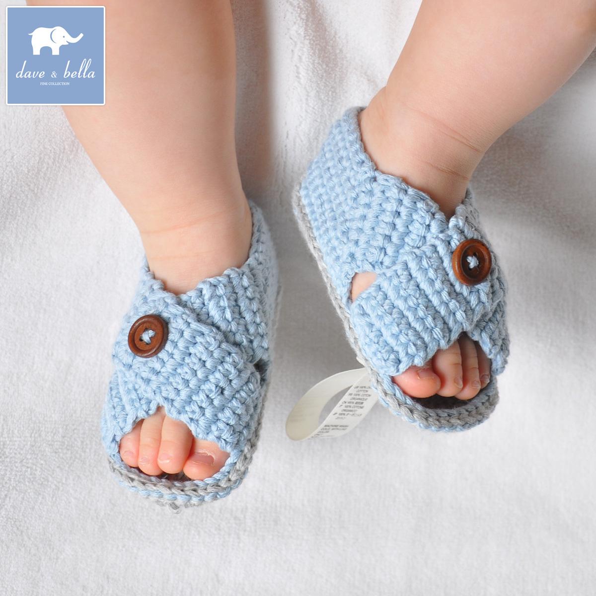 Davebella daiweibeila конце лета мягкой младенца хлопка ручной сандалии Обувь d