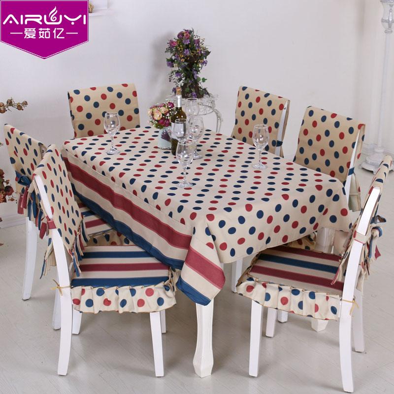 Европейско-средиземноморских скатерть ткань скатерти чай средиземноморском стиле скатерти хлопка, Белье столовое стул крышка набор
