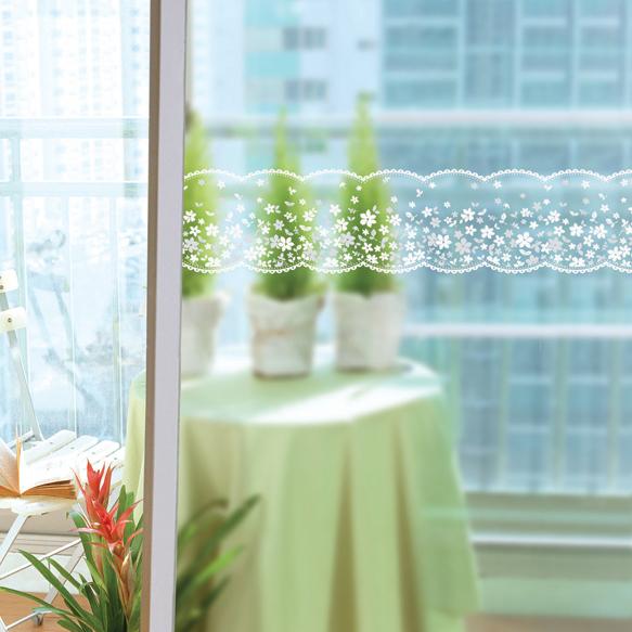韩国进口玻璃贴膜 玻璃门窗透明贴纸腰线 阳台防撞贴镜子贴 多色