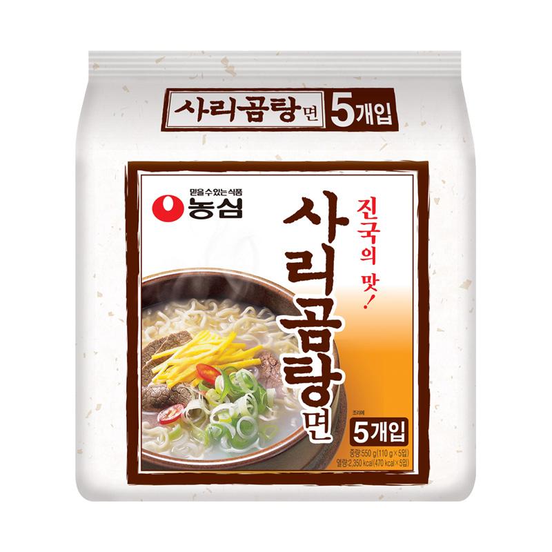 韓國 農心牛骨濃湯拉麵110g~5袋裝方便麵速食泡麵