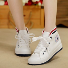 Spring new white canvas shoes for sports leisure han edition female students with breathable sandals with flat shoes