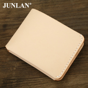 Chun LAN genuine men''s custom handmade leather wallet leather sewing short wallet-tanned leather upper leather