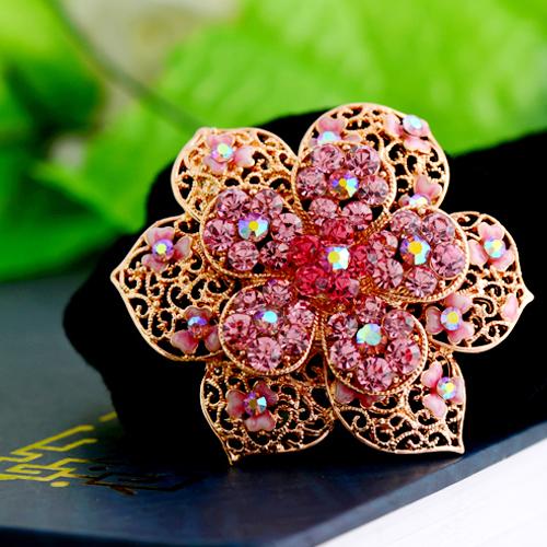 Оптовые ювелирные изделия/люкс горный хрусталь сплава пурпурный цветок бархатные кольцо головной убор Корея Аксессуары для волос F187