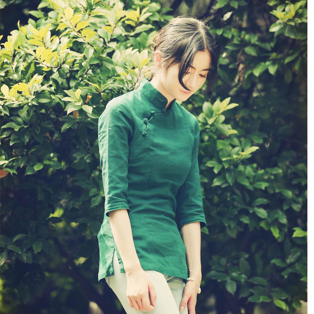 Сяо (река) река сянцзян чернила улучшение костюм cheongsam куртка литература и искусство ретро долго женщина люди страна ветер женщины китайский стиль куртка