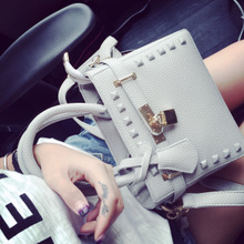 Autumn new female bag 2015 European and American fashion lady Diana mini aslant package rivets shoulder bag